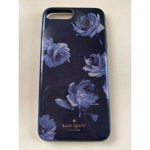 Kate Spade Blue Floral iPhone 6,7,8+ case